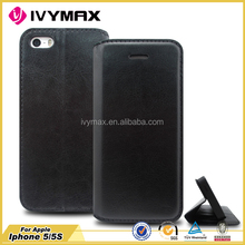 Made in china fashion wallet cellphone leather case for apple iphone 5 5s