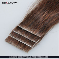 wholesale unprocessed transparent virgin hair 100% human bohemian hair in tape hair extension