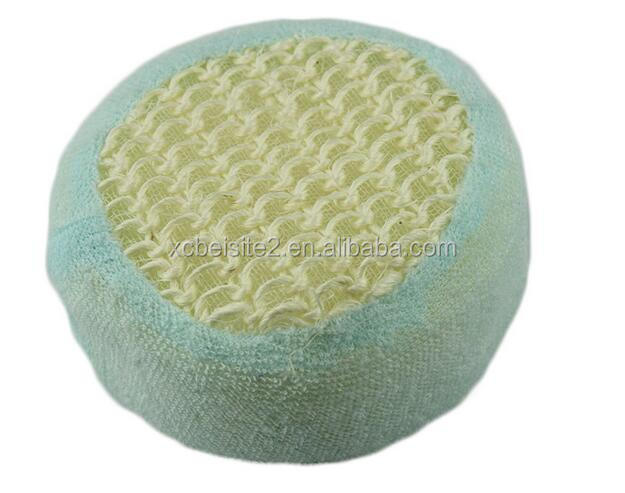 cy306 Natural Sisal Covered exfoliating Bath soap massage Sponge