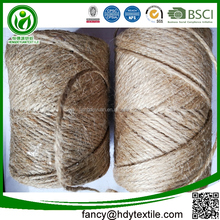 China manufacture biodegradable braided twisted fiber sisal jute line