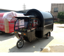 tricycle food cart Electric mobile food truck Black
