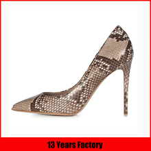 2016 fashion sexy high heel high quality horsehair with bronze metal pumps shoes for women online