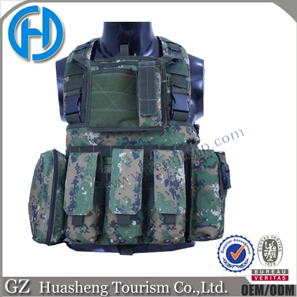 Multicam camo fashion waterproof body fit tactical hunting vest