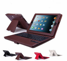 2015 NEW! For iPad smart cover leather case with Bluetooth Keyboard
