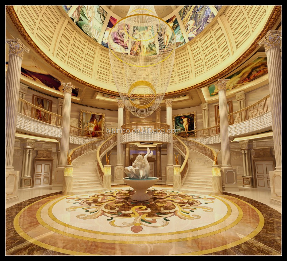 High Definition Luxurious 3D Interior Rendering For European Palace Villa