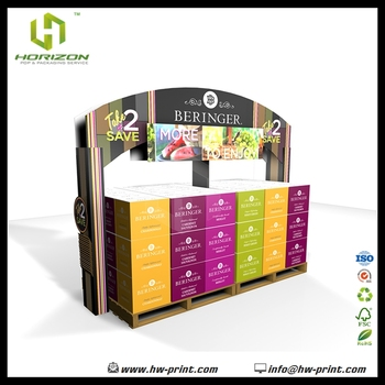 Supermarket Promotion Retail Beringer Cardboard Pallet Display