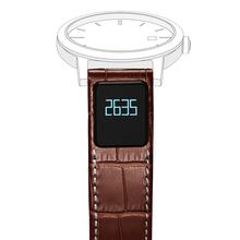 Colorful Waterproof Leather OLED Display Smart Watch Strap Watch Band for IOS Android