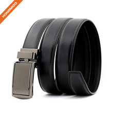 3.6CM Width Factory Custom Quality Automatic Buckle Mens Genuine Leather Slide Belt