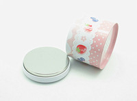 Promotional round miniature tea packaging tin cans