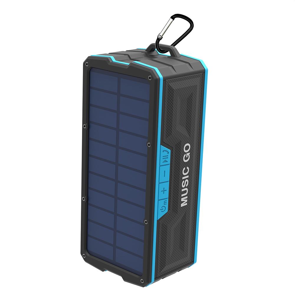 Soomes waterproof shower ip68 solar powerd charging bluetooth speaker