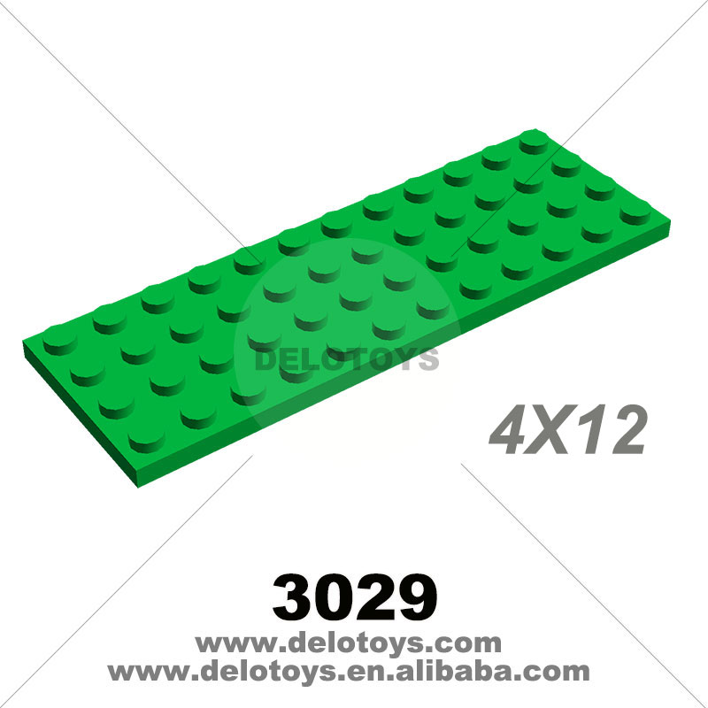 DELO TOYS Plastic building blocks Plate 4 <strong>x</strong> <strong>12</strong> (NO.3029)