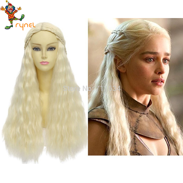 PGWG1273 Game Of Thrones Daenerys Targaryen Wig Halloween Party Dragon Mother Wig