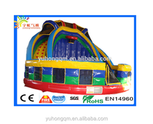 Stimulus inflatable large jumping slide with ladders, amusement park for sale