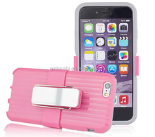 High Quality silicone PC case with holder for iphone6, for iphone 6, for iphone6 plus