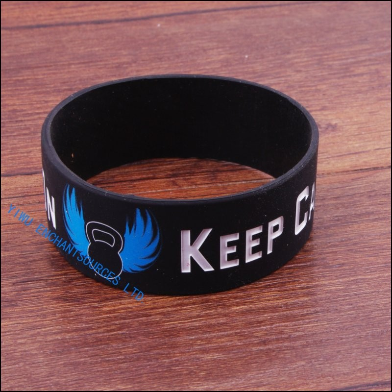 "1/2"" Wide Custom Debossed Silicone Wristband/ Bracelet"