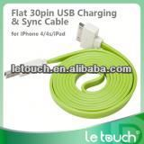 Hot sale colorful elbow usb cable for ipad/iphone with charge and sync