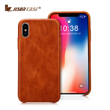 Factory New Products Wholesale Accessories Genuine leather Mobile Phone Case For Iphone X Cell Hybrid Back Cover 2 In 1