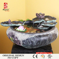 Mini Fiber Ornament Tabletop Water Fountain Indoor
