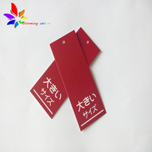 China maker custom weaving fabric hang tag custom hem tag for clothing