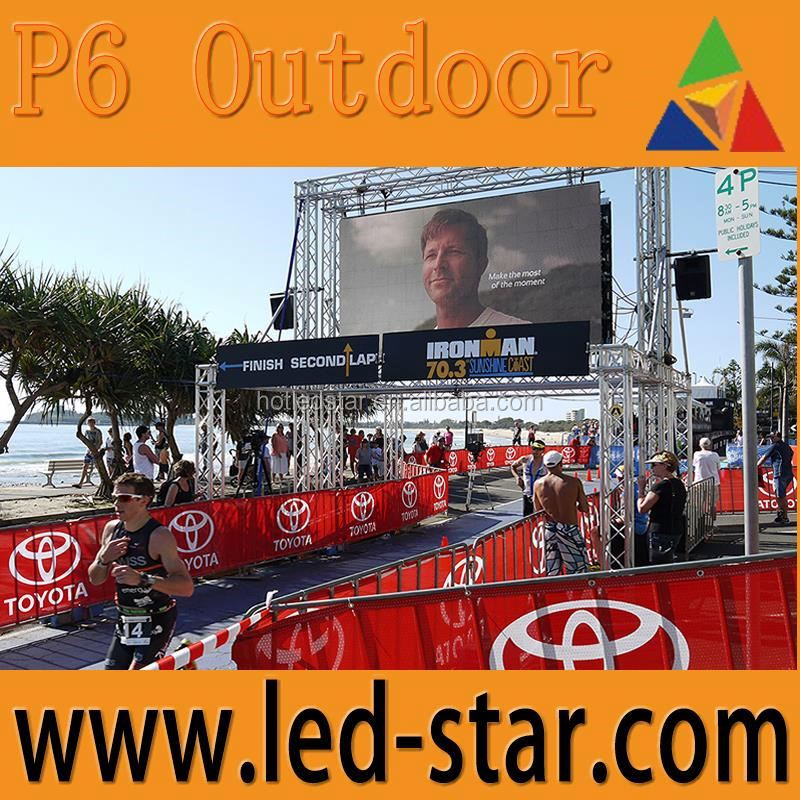 LEDSTAR p6 led screen outdoor video wall for rental projects from Shenzhen Hot Electronics