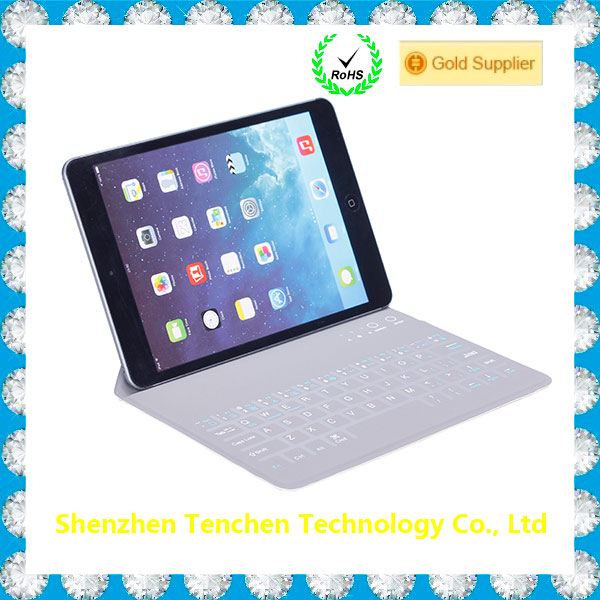 2016 trending products for ipad air 4 case ,leather case for ipad with bluetooth keyboard