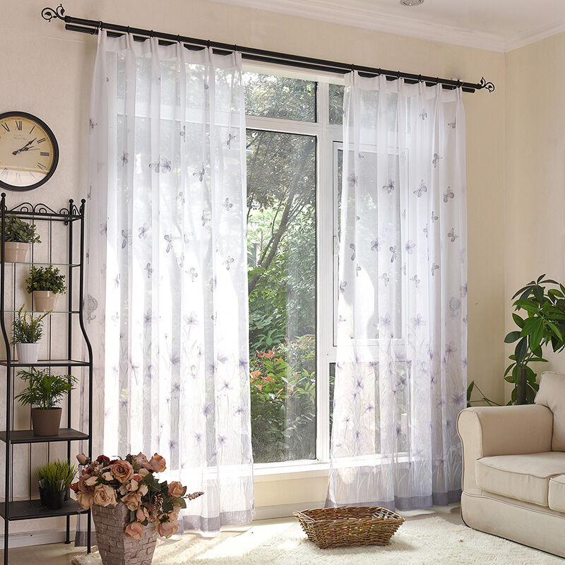 Super quality durable printed sheer curtain fabric