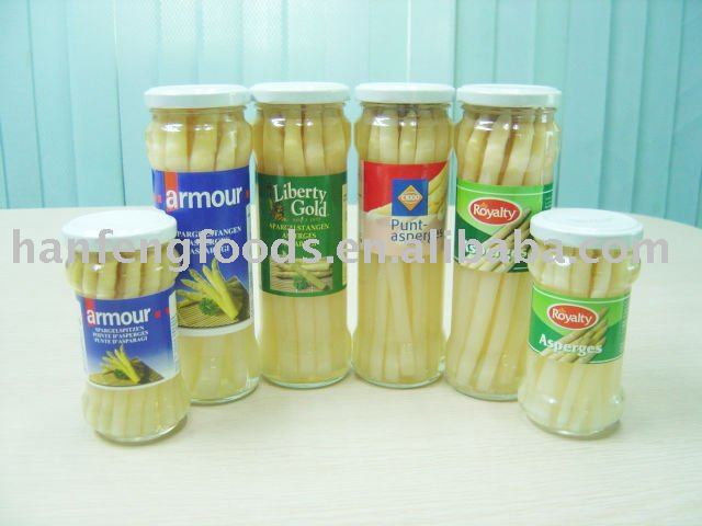 canned asparagus in jar