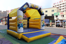 alibaba china supplier minion inflatable bounce house kids trampoline bed