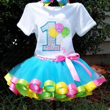multiple colors design fashion summer kid baby tutu skirt