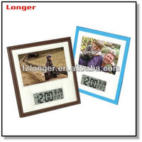 Fancy business gift funny leather lcd digital photo frame LG3007