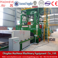 Steel surface rust removing machine H beam cleaning equipment