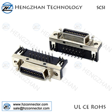 SCSI 20 pin CN type connector right assembling solder type scsi connector