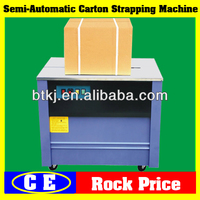 Carton Box Strapping Machine for Carton Box Packing Line with Best Price,Semi Automatic Carton Box Signode Strapping Machine