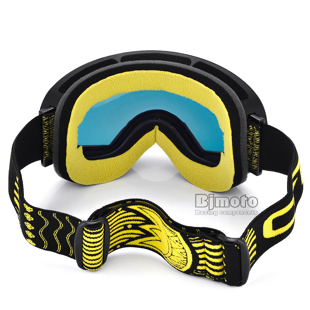 Motocross Goggles Glasses Snow Sports Snowboard with Anti-fog UV400 for Men Women Snowmobile Skating Mask Racing Goggles (8)