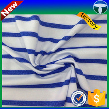 stripe singlejersey spandex fabric for summer clothing