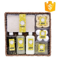 wholesale excellent wrapped flowers spa bath towel soap set gift