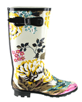 Women rubber rain boots with thin and soft outsoles