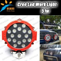 Hot sale! 51W led work light offroad led driving light flood beam/sport beam
