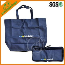 suprior quality polyester reusable folding shopping bags with zipper