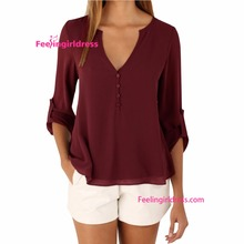 Popular western office uniform only ladies blouse design