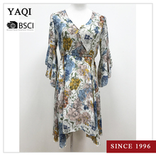Summer Casual Boutique Floral Print New Style Long Chiffon Dress on Hot Sale