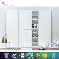 Foshan OEM MDF PVC wardrobes with dressing table