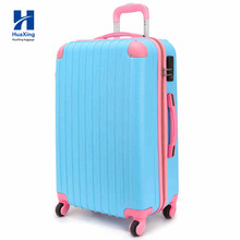 Hot Sell New Design Cheap Colorful ABS Trolley Travel Luggage With Four Wheels
