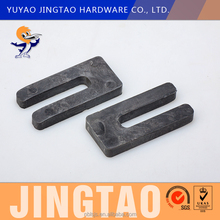 Plastic Frame Packers PP Buildings Material Black 10mm Thickness U Shims Used In Door And Window plastic window frame