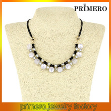 PRIMERO crystal beads twisted natural freshwater pearl in bulk colourful pearl necklace aaa fashion pearl necklace