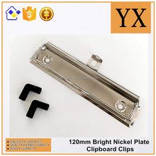 Filling products bright nickel 120mm nickel metal clipboard hardware