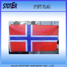 custom cheap 100% polyester 3*5FT Norway Country Flag