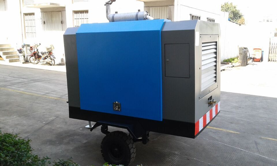DMC 185cfm 5m3/min diesel portable screw compressor