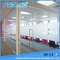 The leisure way high aluminum frame glass partition wall price
