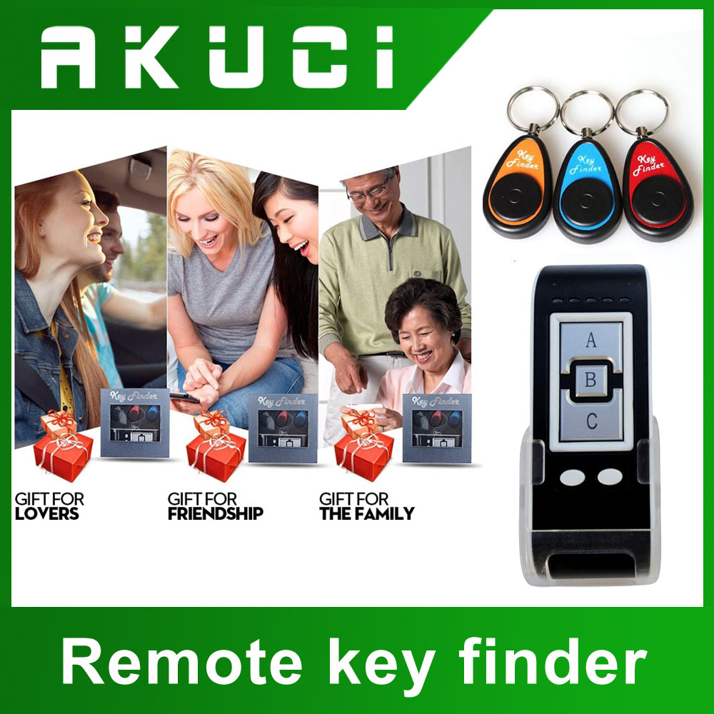 3 in 1Degital anti-theft security tags electric shock self defence key finder keychain